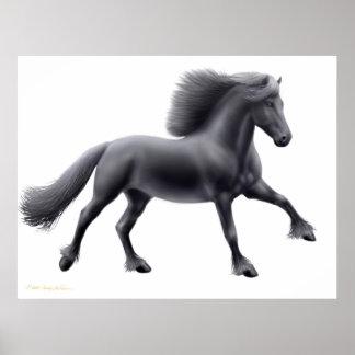 Proud Friesian Stallion Print