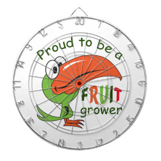 PROUD FRUIT GROWER DARTBOARD WITH DARTS