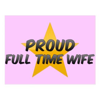 Proud Full Time Wife Postcard