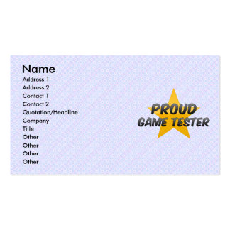 Proud Game Tester Business Card