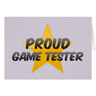 Proud Game Tester Card