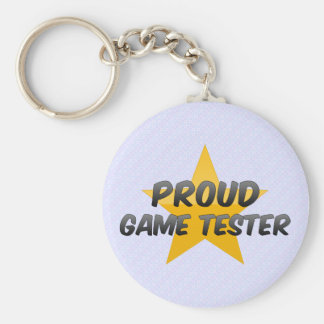 Proud Game Tester Keychains