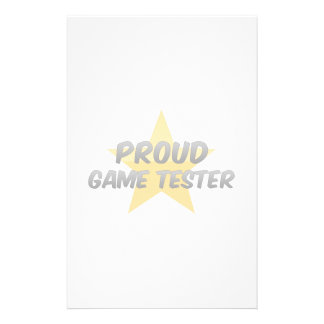 Proud Game Tester Stationery
