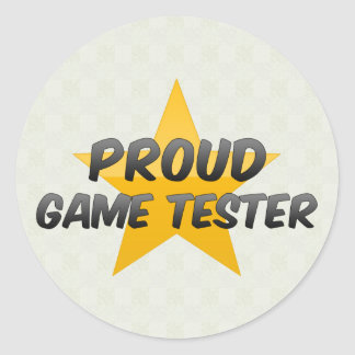 Proud Game Tester Stickers