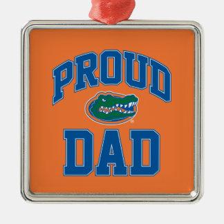 Proud Gator Dad Metal Ornament