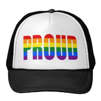 PROUD (Gay Pride Rainbow) Trucker Hat