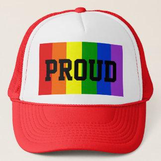 Proud Gay Rainbow Flag Ball Cap - Red