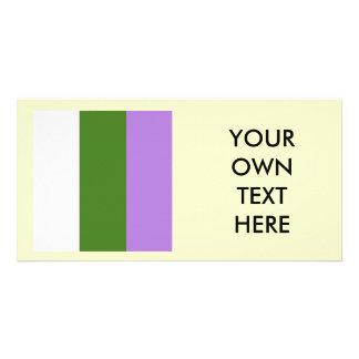 Proud Genderqueer Photo Card Template