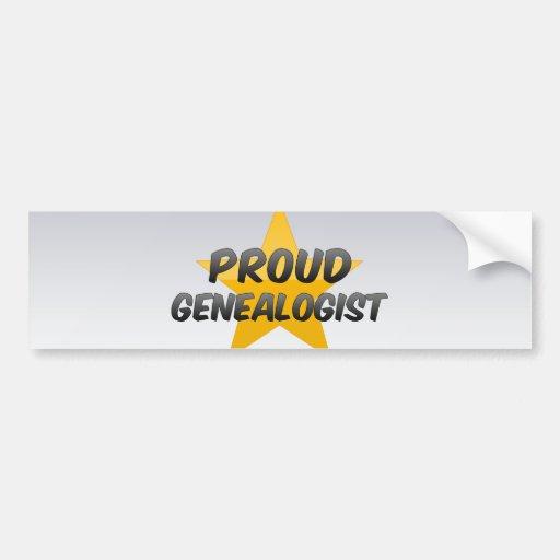 Proud Genealogist Car Bumper Sticker
