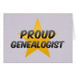 Proud Genealogist Greeting Card