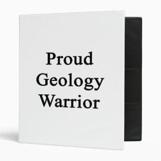 Proud Geology Warrior 3 Ring Binder