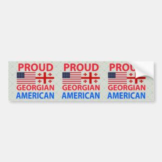 Proud Georgian American Bumper Sticker