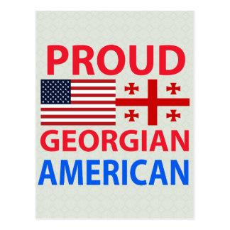 Proud Georgian American Postcard