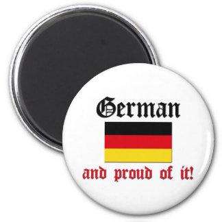 Proud German 2 Inch Round Magnet