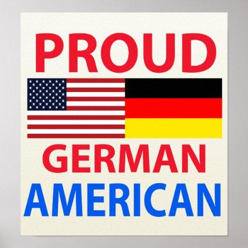 Proud German American Poster
