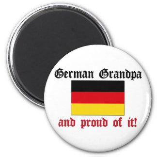 Proud German Grandpa 2 Inch Round Magnet