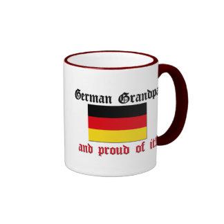 Proud German Grandpa Ringer Mug