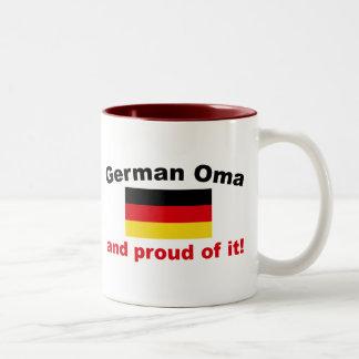 Proud German Oma Two-Tone Coffee Mug