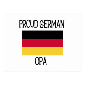 Proud German Opa Postcard