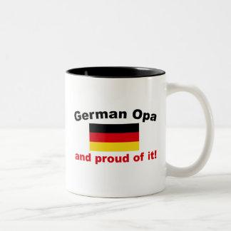 Proud German Opa Two-Tone Coffee Mug
