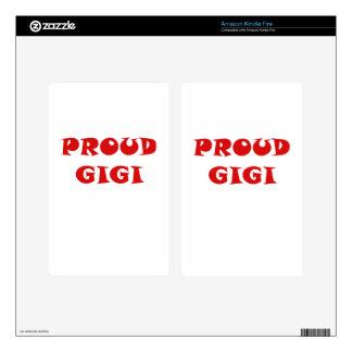 Proud Gigi Skins For Kindle Fire