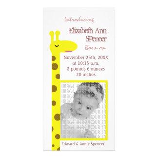 Proud Giraffe Baby announcement