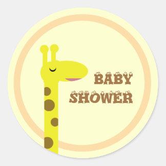 Proud Giraffe Classic Round Sticker
