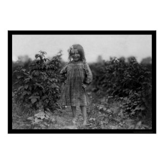 Proud Girl Berry Picker 1910 Posters