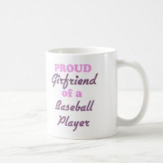 Proud Girlfriend of a Baseball Player Classic White Coffee Mug