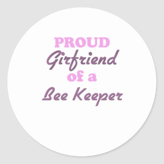 Proud Girlfriend of a Bee Keeper Classic Round Sticker
