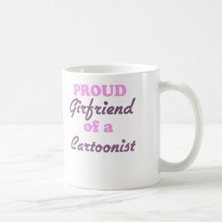 Proud Girlfriend of a Cartoonist Classic White Coffee Mug