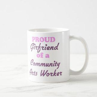 Proud Girlfriend of a Community Arts Worker Classic White Coffee Mug