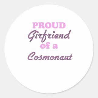 Proud Girlfriend of a Cosmonaut Round Sticker