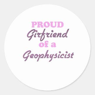 Proud Girlfriend of a Geophysicist Classic Round Sticker