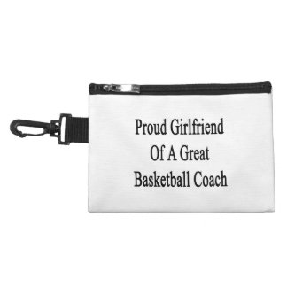Proud Girlfriend Of A Great Basketball Coach Accessories Bags