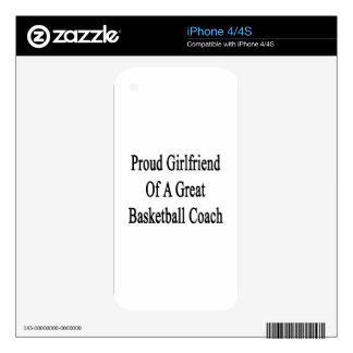 Proud Girlfriend Of A Great Basketball Coach Skin For The iPhone 4