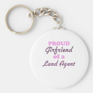 Proud Girlfriend of a Land Agent Keychain