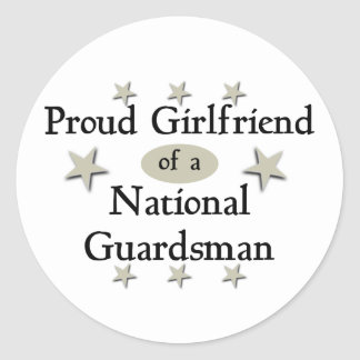 Proud Girlfriend of a National Guardsman Classic Round Sticker