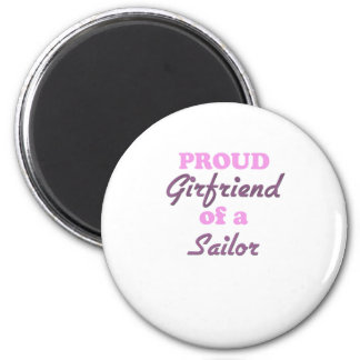 Proud Girlfriend of a Sailor 2 Inch Round Magnet