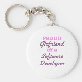 Proud Girlfriend of a Software Developer Keychains