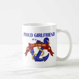 Proud Girlfriend of a US Sailor Coffee Mug