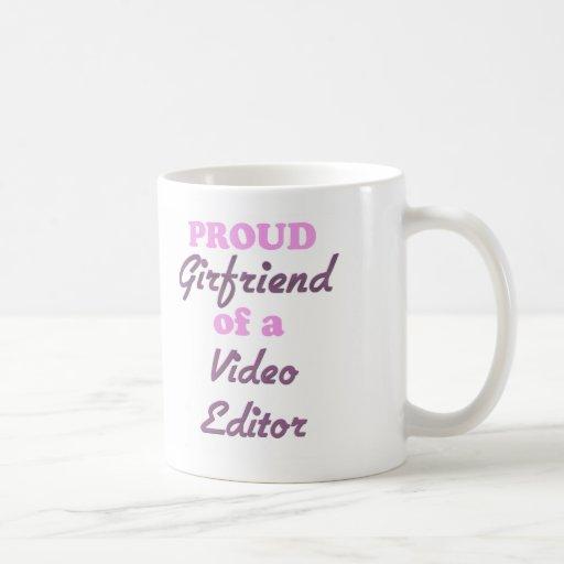 Proud Girlfriend of a Video Editor Coffee Mugs