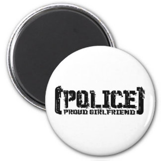 Proud Girlfriend - POLICE Tattered Magnet