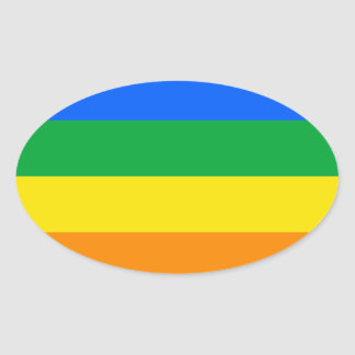 Proud GLBTQI Oval Stickers