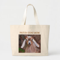 Proud Goat Mom Large Tote Bag