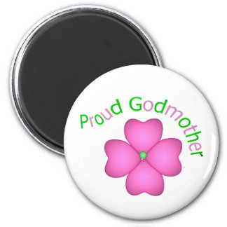 Proud Godmother 2 Inch Round Magnet