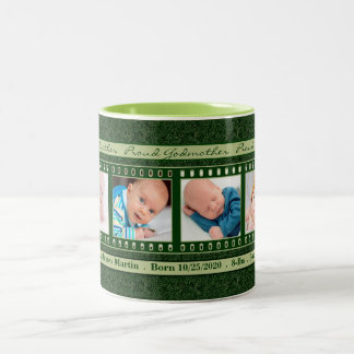 Proud Godmother 4 Photo Mug Deep Vintage Green