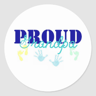 proud gpa classic round sticker