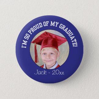 Proud Graduation Button - Blue