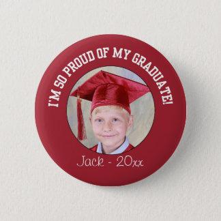 Proud Graduation Button - Red